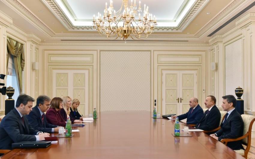 Azərbaycan Prezidenti Serbiya parlamentinin sədrini qəbul edib