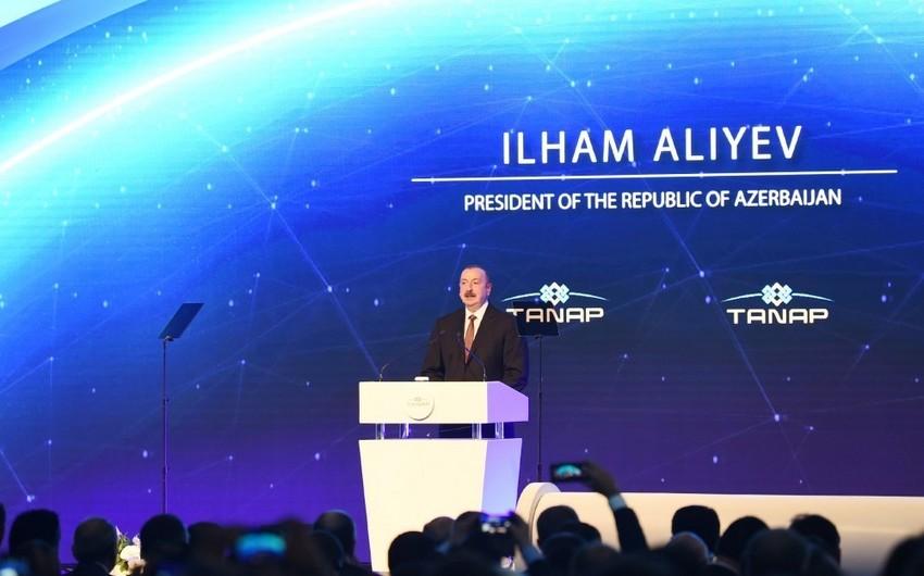 Президент Ильхам Алиев: Не будь турецко-азербайджанского братства, проект TANAP мог бы остаться на бумаге