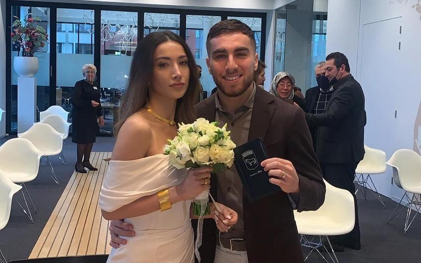 Millimizin futbolçusu evləndi