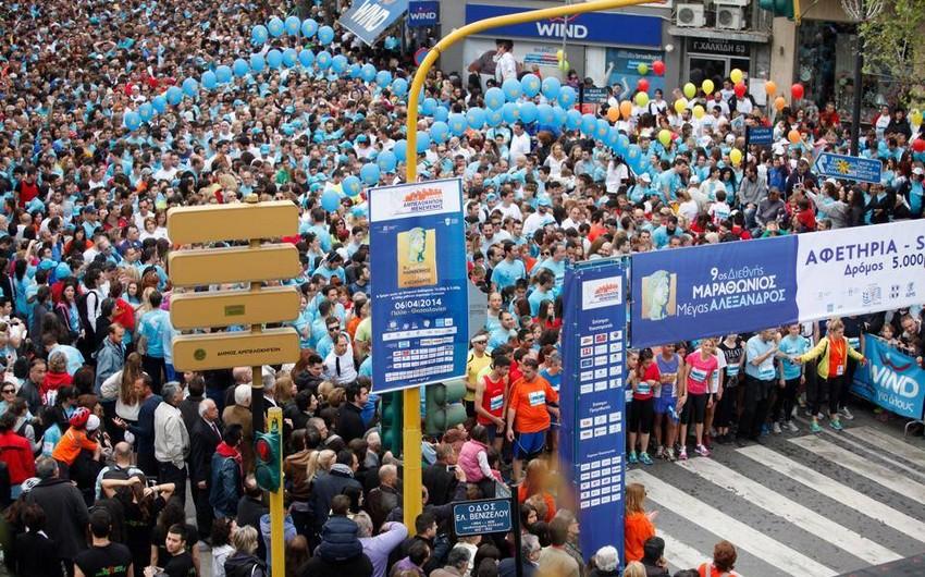 Bakı-2015 Yunanıstanın Saloniki şəhərində keçirilən marafon yarışmasının rəsmi sponsoru olub