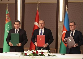 Türkiyə, Azərbaycan və Türkmənistan XİN başçılarının görüşü ilə bağlı birgə bəyanat yayılıb