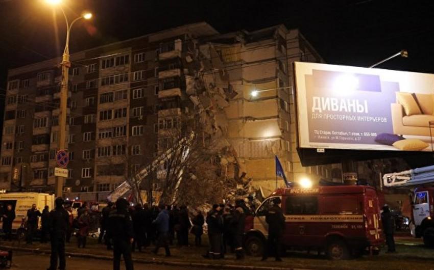 İjevsk şəhərində yaşayış binasının qismən uçması nəticəsində ölənlərin sayı 6-a çatıb - YENİLƏNİB-2