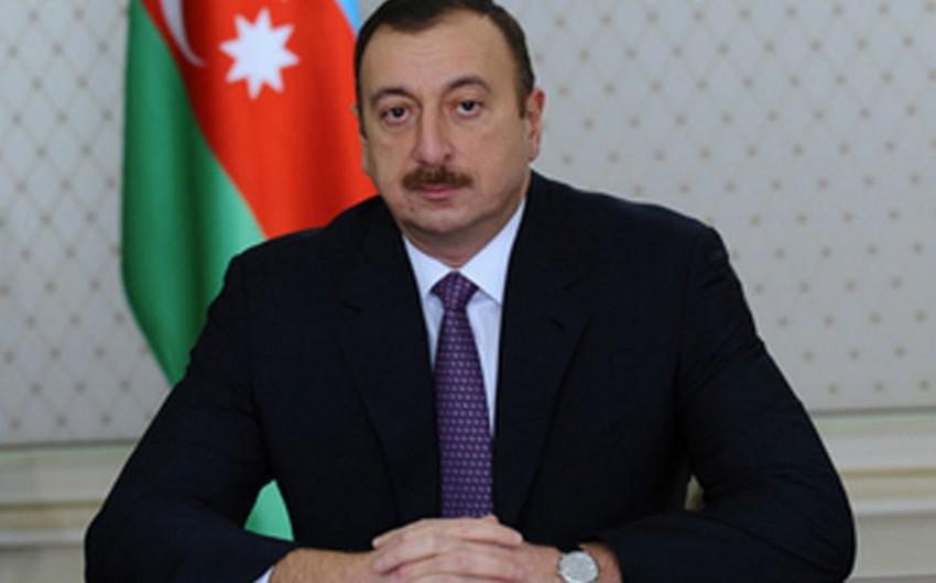 Президент Ильхам Алиев поздравил участников VI российско-азербайджанского межрегионального форума