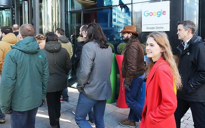 Google əməkdaşları ABŞ-da cinsi zorakılığa qarşı etiraz aksiyası keçiriblər