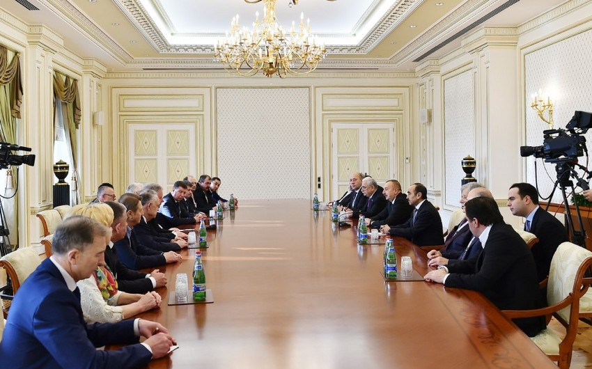 President Ilham Aliyev receives delegation of international and foreign trade unions - UPDATED
