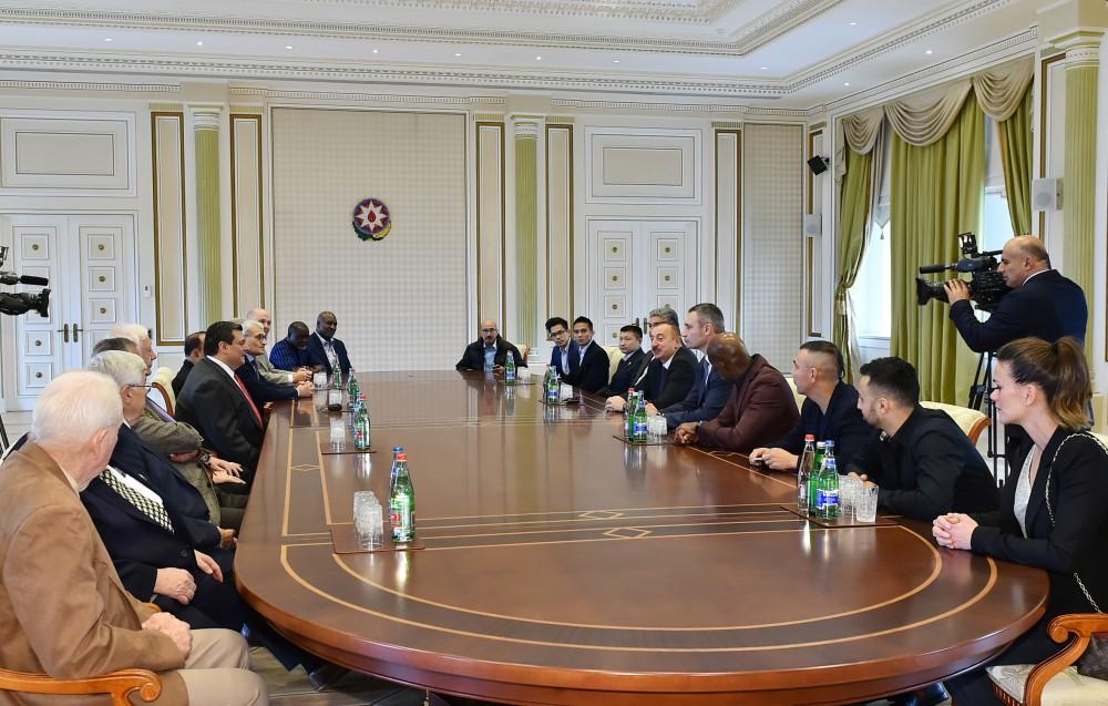 President Ilham Aliyev receives participants of 55th Convention of World Boxing Council