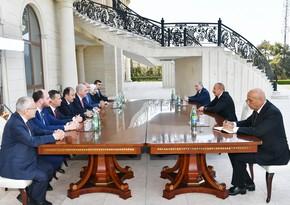 İlham Əliyev AKP sədrinin birinci müavinini qəbul edib