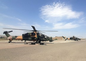 Combat helicopters involved in TurAz Qartalı - 2020 exercises