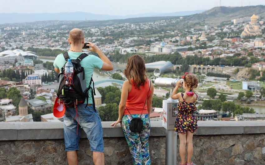 Azerbaijan ranks first for the number of travels to Georgia