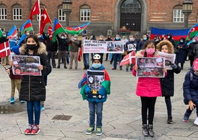 Azerbaijanis living in Denmark hold rally against Ganja terror