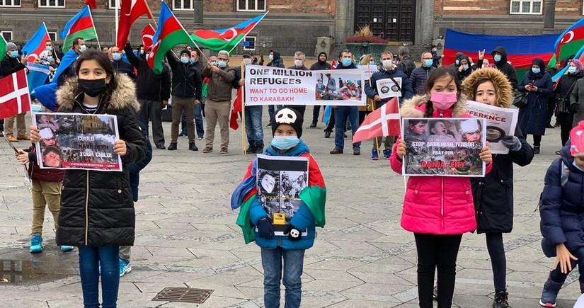Azerbaijanis living in Denmark hold rally against Ganja terror