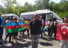Azərbaycanın diaspor nümayəndələrinin Şuşaya səfəri başlayıb - YENİLƏNİB