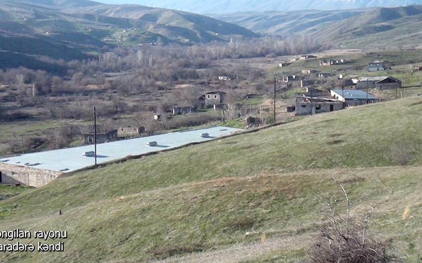 Освобожденное от оккупации село Гарадере Зангиланского района