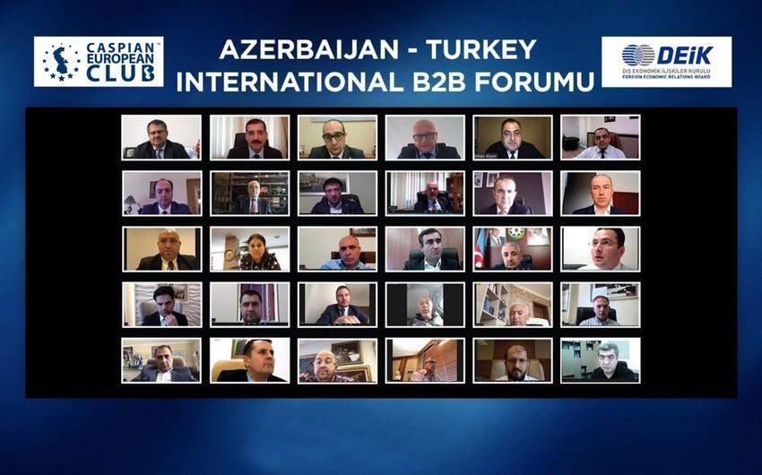 """""""Azərbaycan-Türkiyə"""" üçüncü beynəlxalq onlayn B2B forum keçirilib"""