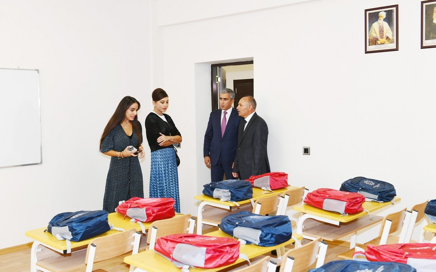 Şamaxıda Məlikçobanlı kənd tam orta məktəbinin açılışı olub - YENİLƏNİB