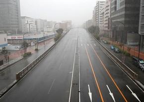 На Токио движется тайфун