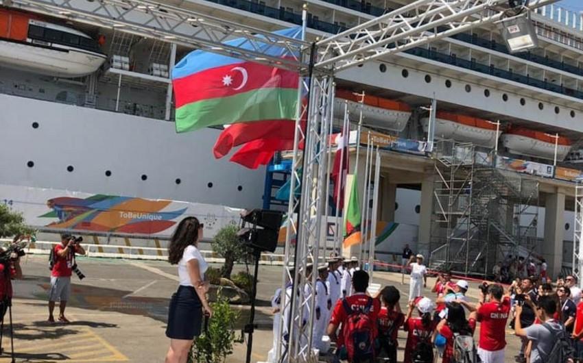 Universiada-2019: Neapolda Azərbaycan bayrağı qaldırılıb