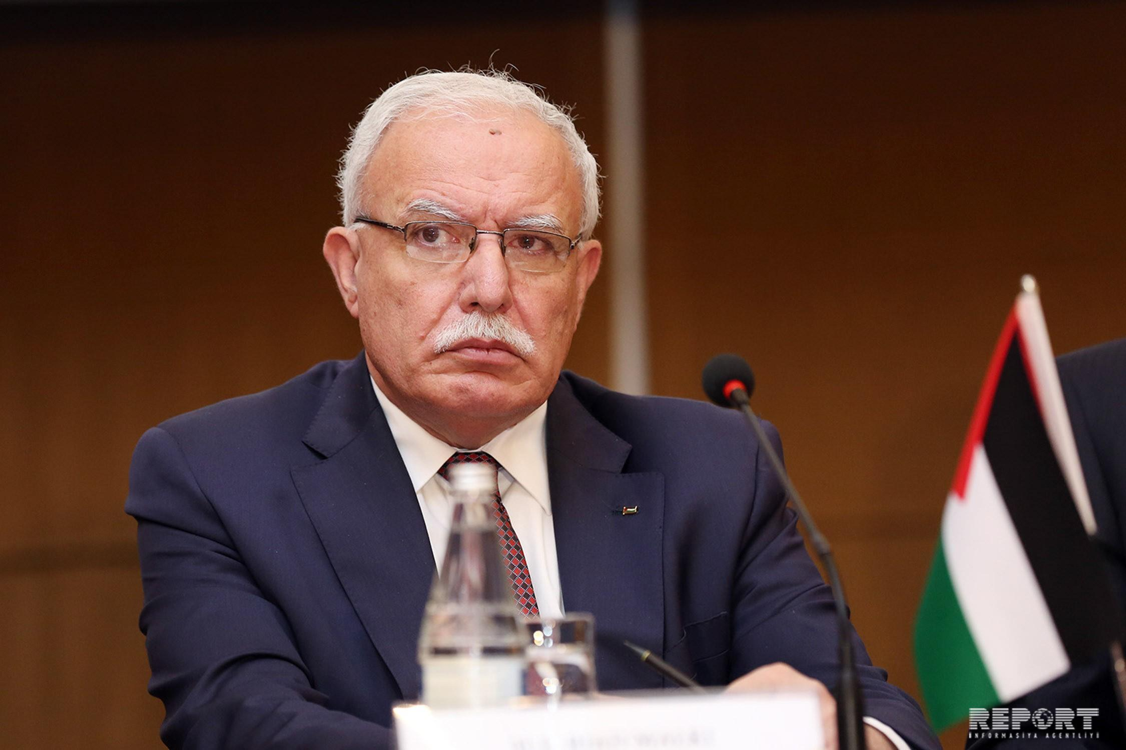 Глава МИД Палестины: Для нас очень важно, что Азербайджан поддерживает нас в вопросе Иерусалима
