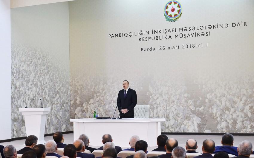 В Барде cостоялось республиканское совещание под председательством президента Ильхама Алиева - ОБНОВЛЕНО