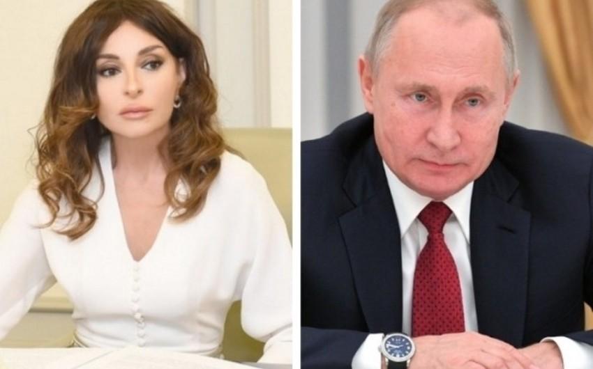 Владимир Путин поздравил Мехрибан Алиеву