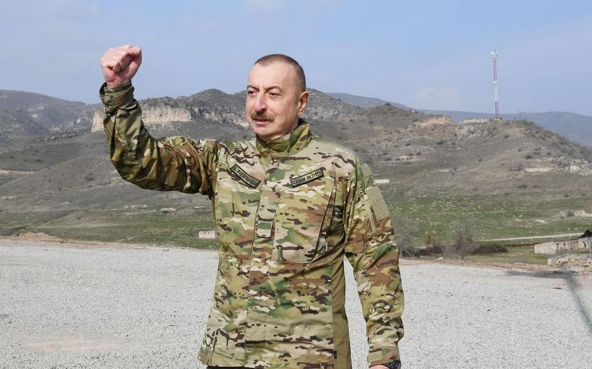"""İlham Əliyev: """"Bütün azad edilmiş torpaqları bərpa edəcəyik"""""""