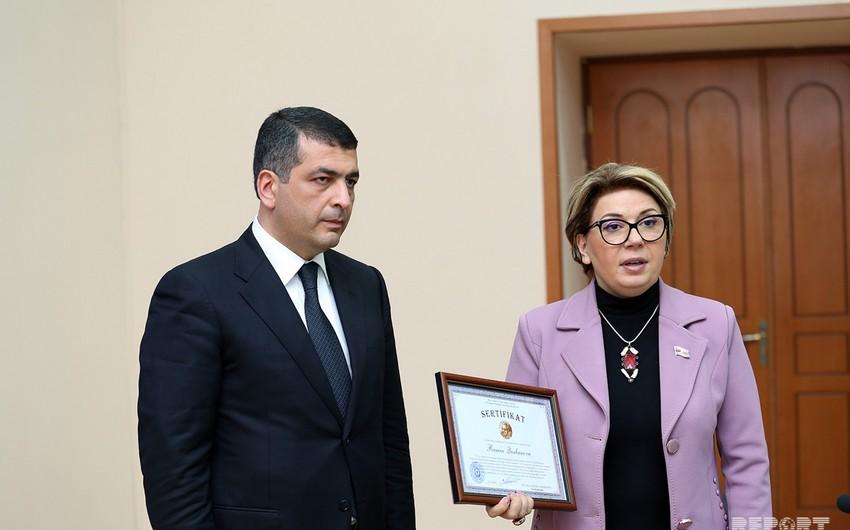 Состоялась церемония вручения сертификата и медали имени Профессора Ровшана Мустафаева