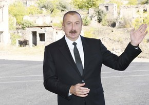 Prezident: Qubadlıdan sonra biz zəfər yürüşümüzü şərəflə davam etdirdik və Şuşada dövlət bayrağımızı ucaltdıq