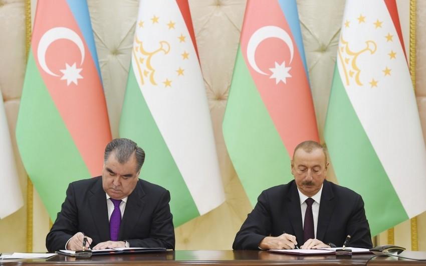 Azərbaycan-Tacikistan sənədləri imzalanıb - YENİLƏNİB