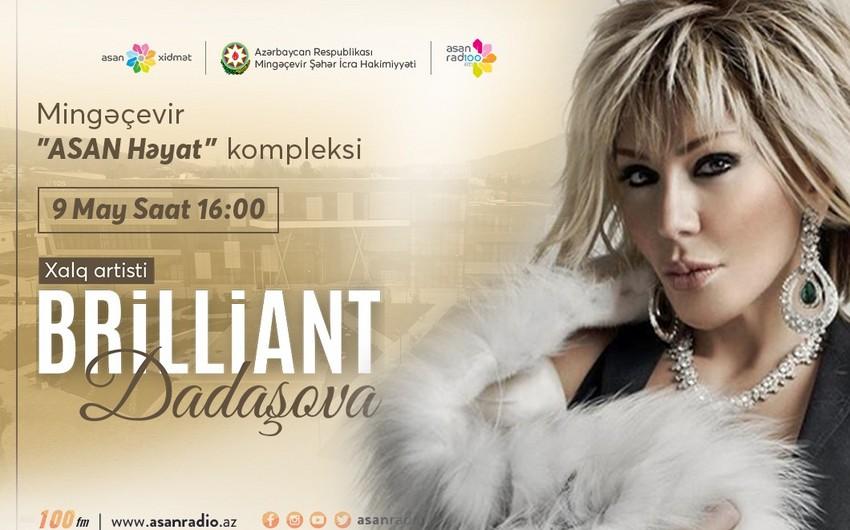 Brilliant Dadaşova Mingəçevirdə konsert verəcək