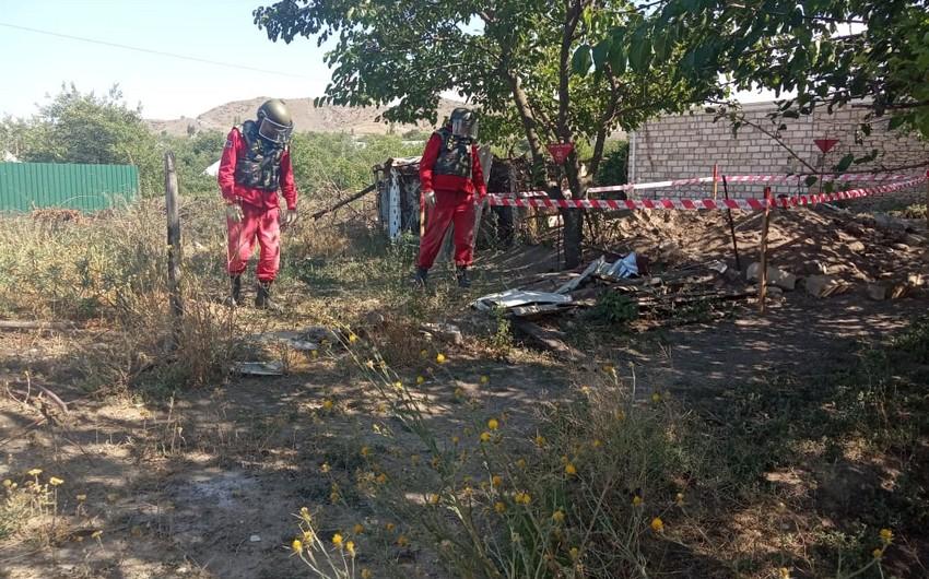 Tovuzun Aşağı Öysüzlü kəndində top mərmisinin qalıqları aşkarlandı