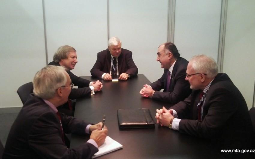 Глава МИД Азербайджана провел встречу с сопредседателями МГ ОБСЕ
