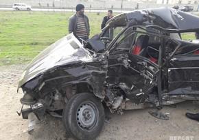 В Физулинском районе Азербайджана произошло тяжелое ДТП, 1 человек погиб - ВИДЕО