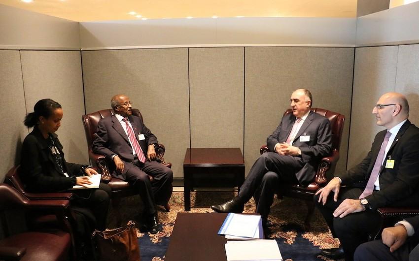 Elmar Məmmədyarov Sierra Leone və Eritreyanın xarici işlər nazirləri ilə görüşüb