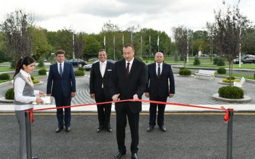 Azərbaycan prezidenti ölkənin iki rayonuna səfər edib