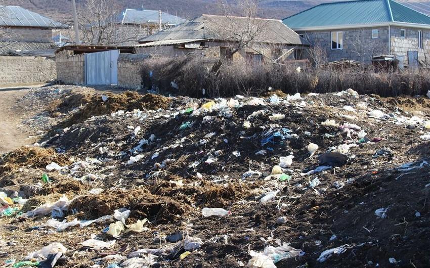 Azərbaycanlıların yaşadığı kəndin zibil problemi aradan qaldırılacaq - FOTO