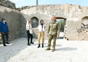 President Ilham Aliyev and First Lady Mehriban Aliyeva visit Jabrayil and Zangilan districts