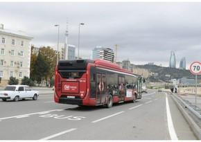 Bakıda daha üç küçədə xüsusi avtobus zolağının salınmasına başlanılıb