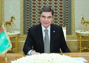 Türkmənistan prezidenti: Təşəbbüslərimizi dəstəklədiyiniz üçün minnətdarıq
