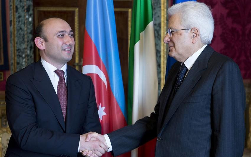 Новоназначенный посол Азербайджана представил верительные грамоты президенту Италии