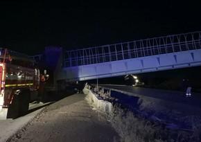 Rusiyada piyada keçidi uçub, 2 nəfər ölüb