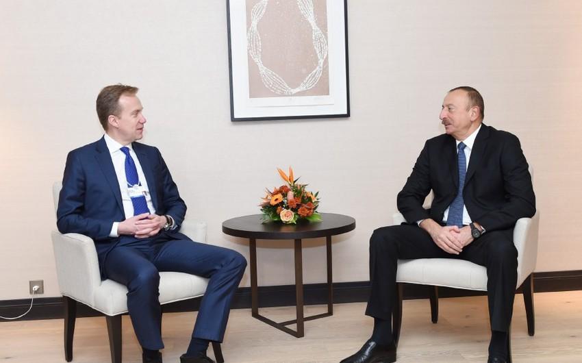 Azərbaycan Prezidentinin Davosda Norveçin xarici işlər naziri ilə görüşü olub - YENİLƏNİB