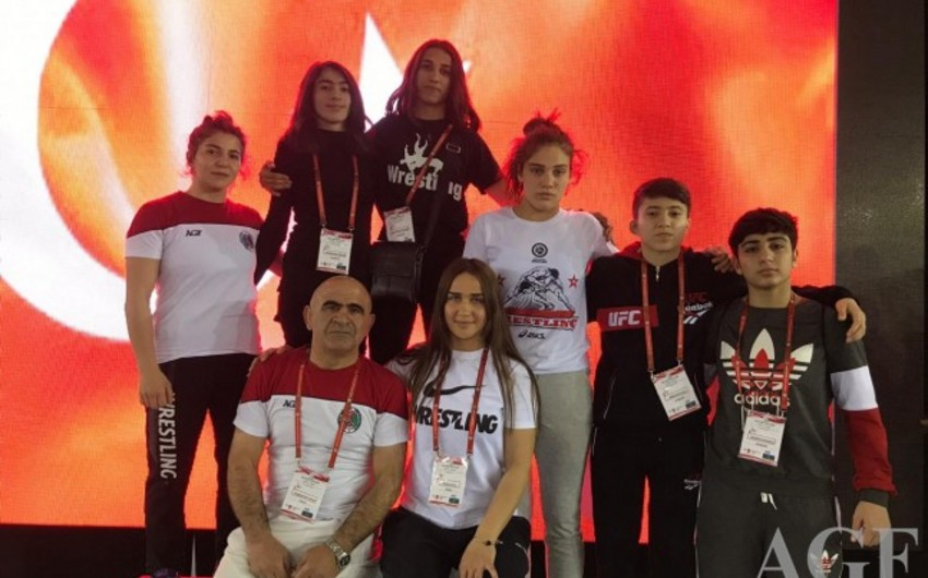 Young Azerbaijani wrestlers claim 11 medals in Turkey