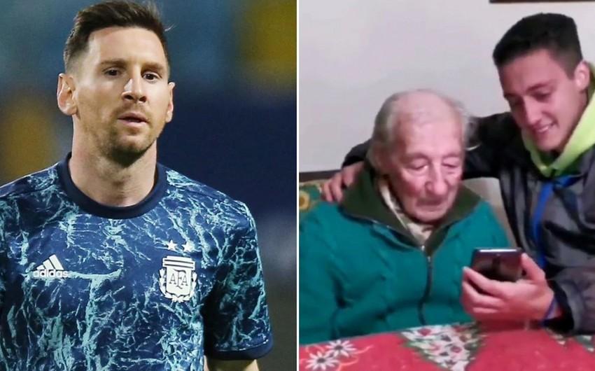 Messi 100 yaşlı fanatının jestinə cavab verdi