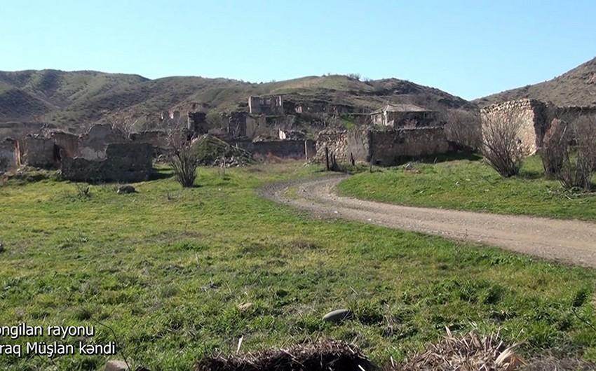 Footage from Girag Mushlan village of Zangilan