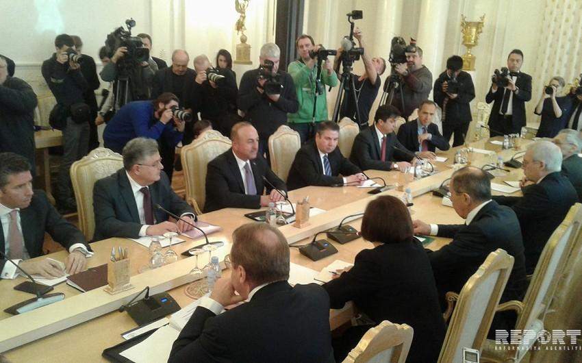 Moskvada Türkiyə və Rusiya xarici işlər nazirlərinin görüşü keçirilir