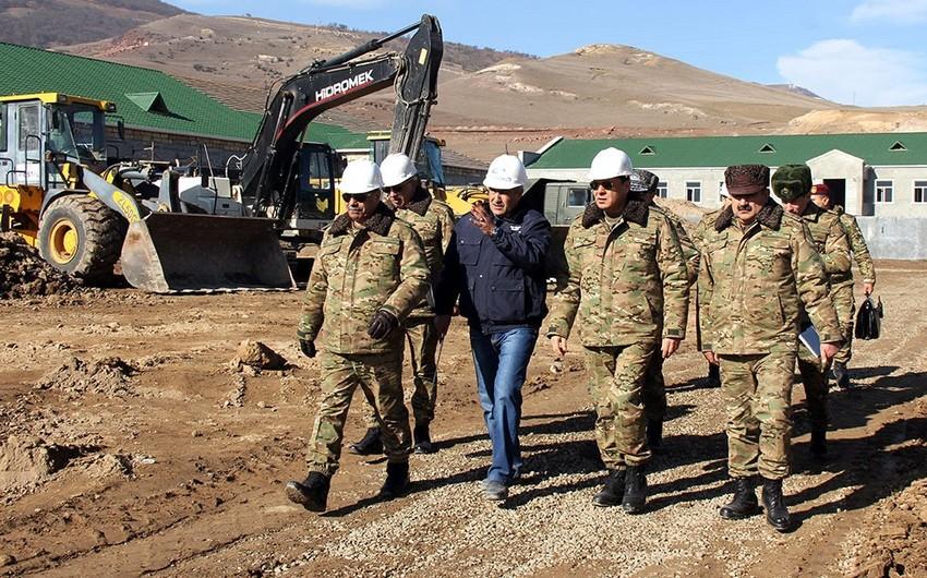 Azərbaycanın bölgələrində yeni hərbi obyektlər tikilir