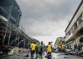 В ТЦ Diqlas сгорела территория площадью 17 тыс. квадратных метров - ФОТОРЕПОРТАЖ