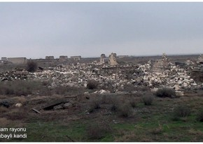 Footage from Taghibeyli village of Aghdam