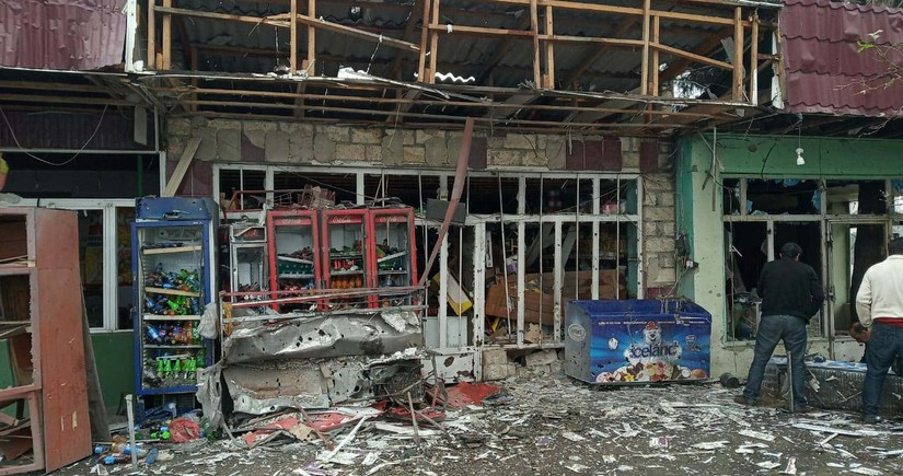 Armenians launch shells on Agdam, damaging shops, cafes and teahouses