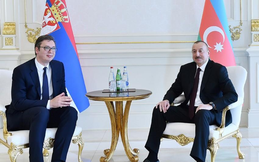 Serbian President makes call phone to Ilham Aliyev